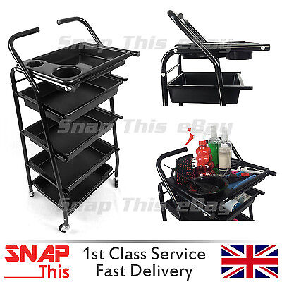 Salon Hairdresser Barber Hair Storage Trolley Beauty Drawers Spa Cart - N0.4