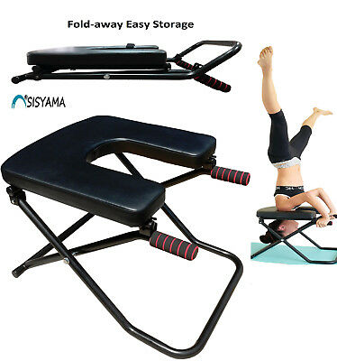Fitness Yoga Chair INVERSION BENCH + BENCH WORKOUT MANUAL