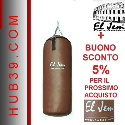 Sacco Boxe Pieno KICK BOXING MMA ARTI MARZIALI  MADE IN ITALY + CATENE