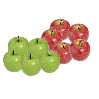 Artificial Apple Plastic Fruits Imitation Home Decor 10pcs Red and Green ED
