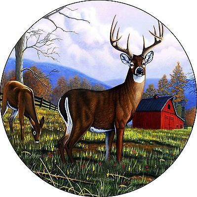 Deer #7 Secrets Unaware Spare Tire Cover buck & doe barn Jeep RV Camper(all size