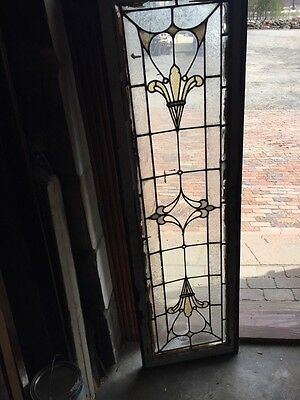 Sg 740 Antique Transom Window Stainglass 18 X 60