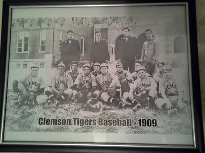 Clemson Tigers Baseball 1909 Sports Reproduction Old Antique Vintage Photograph