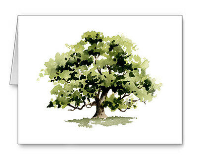 OAK TREE Note Cards With Envelopes