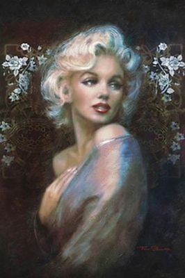 MARILYN MONROE - PAINTED PORTRAIT ART POSTER - 24x36 3283
