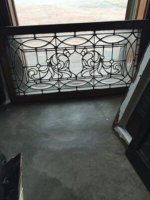 "Sg 749 Antique Transom Window 22"" X 42.25"" Beautiful"