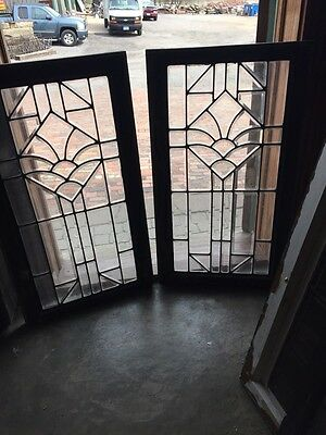 Sg 752 Available Price Separate Antique All Beveled Glass Window