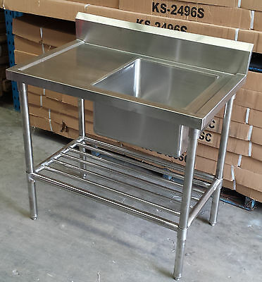 1000Mmx610Mm 304 Stainless Steel Kitchen Catering Sink Table