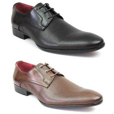 New Men's Dotted Pointed Snipe Toe Lace Up Oxfords Royal Dress Shoes Alen 5 NEW