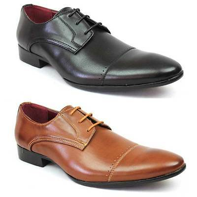 New Men's Dress Shoes Cap Toe Lace Up Oxfords Modern Formal Royal Alen 1 NEW