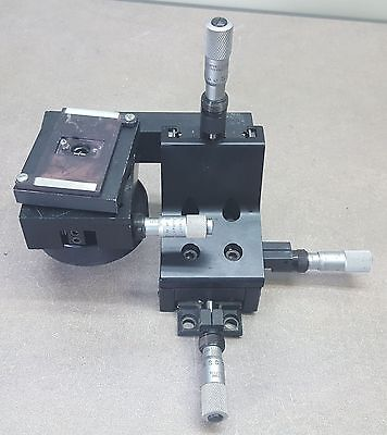 NEWPORT MODEL 460 XZ Series AXIS OPTICS POSITIONER WITH extended Stage
