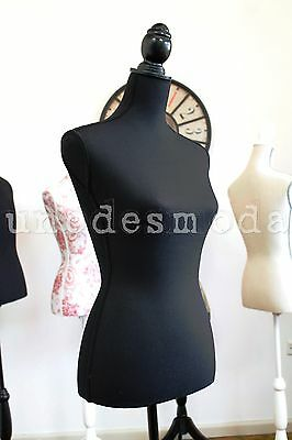 Mannequin Shop Store Display Female Dress Maker Dummy Black retro classic - 350F