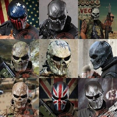 Full Face Protection Skull Mask Outdoor Tactical Gear Airsoft Paintball