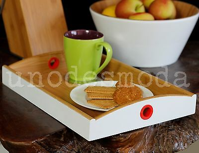 1 x SERVING TRAY BAMBOO Tea Coffee Biscuits Breakfast in Bed GIFT Present Idea
