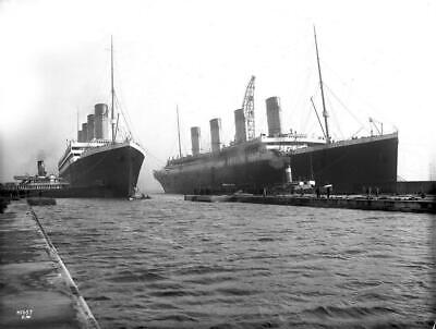 RMS Titanic and Olympic Vintage Ocean Liner Photo Travel Art Print