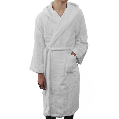 White Fluffy Towelling Dressing Gown Eur 1117 Picclick Fr