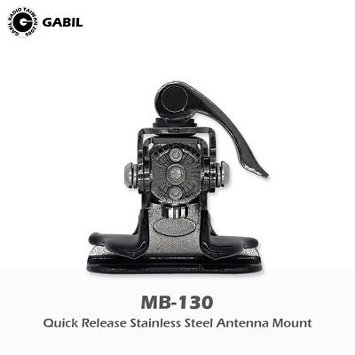 Black MB-130B Quick Release Stainless Steel Antenna mount for Ham Radio