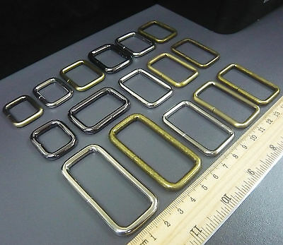 "Belt/Bag Buckles Metal Wire Rectangle Ring Loops for 3/4"" 1"" 1.25"" 1.5"" 2"" strap"