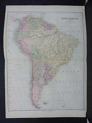 Black's 1876 Atlas, Map, South America, M2#26