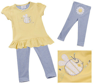 Minikidz Girls Cheap Top Leggings Set Bee Happy Summer Daisy Party Gift Outfit