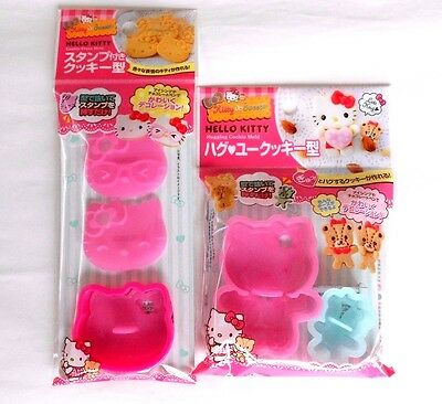 HELLO KITTY Hugging Cookie Mold & Cookie Press Mold 2SET SANRIO From JAPAN