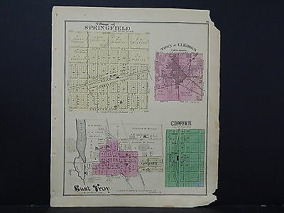 Wisconsin, Walworth County Map, 1873 Communities of East Troy, Elkhorn, M4#36