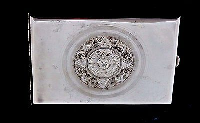 Antique Collectible 925 Sterling Silver Cigarette Cigar Wallet Box - MEXICO
