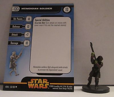 Neimoidian Soldier 35/60 Star Wars Miniatures Minis Revenge of the Sith ROTS