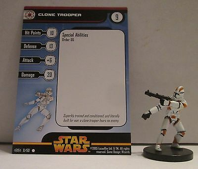 Clone Trooper 8/60 Star Wars Miniatures Minis Revenge of the Sith ROTS