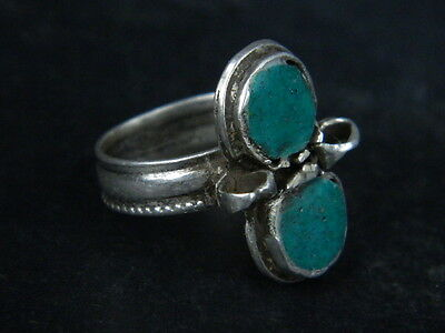 Antique Silver Ring With Stones 1900 AD  #STC176 • CAD $31.76