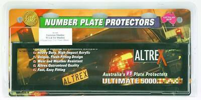 Number Plate Covers - Dual Slimline, Black Clear, Pair - #6VSNL