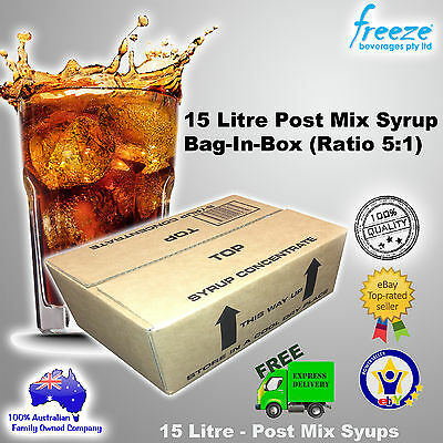 15 Litre Cola Bag-In-Box Post Mix Syrup (Ratio 5:1) + Free Shipping