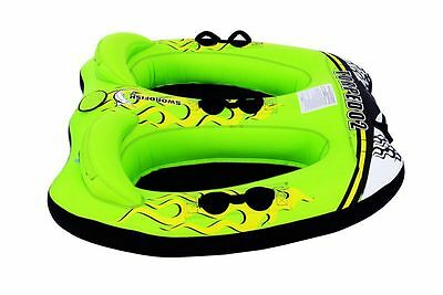 Swordfish 2 Person Sit Down Surf Ski Tube Waterski Biscuit Wake New