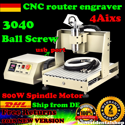 USB 4 Axis 3040 800W CNC Router Engraver Engraving Machine Graviermaschinen