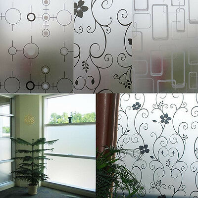 Frosted Opaque Glass Window Self-Adhesive Film Privacy Glass Stickers Home Decor