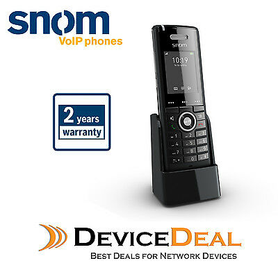 Snom M65 DECT handset with wideband HD audio qualityExtra handset for M325