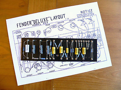 Turret Board for Fender Deluxe 5E3 Tweed amp & DIY/Kit guitar amplifiers