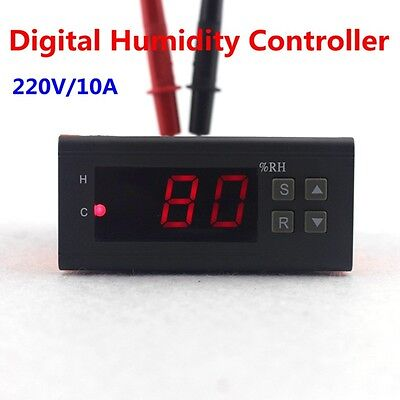 Digital Air Humidity Controller Hygrometer 10A 220V with Humidity Sensor Delay