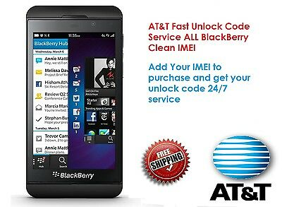 BlackBerry Unlock Code AT/&T USA Blackberry Bold 9900 8300 8320 Clean imei only