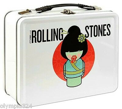 """ROLLING STONES, The LUNCH BOX """"Geisha"""" Metal White Authentic Licensed NEW"""