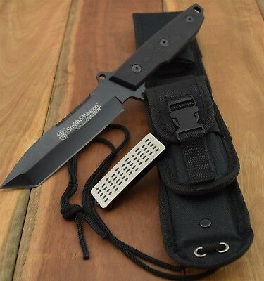 Smith & Wesson Homeland Security Full Tang Tanto Fixed Blade Knife CKSUR4