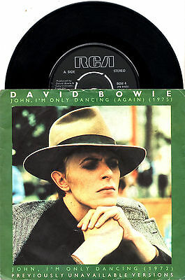 DAVID BOWIE john i'm only dancing - 2 UNRELEASED 45RPM w/4-pin push-out centre