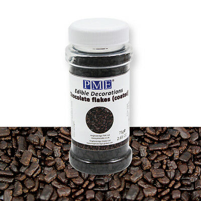 PME Chocolate Flakes Sprinkles Cup Cake Icing Topping Decorating Decoration 80g