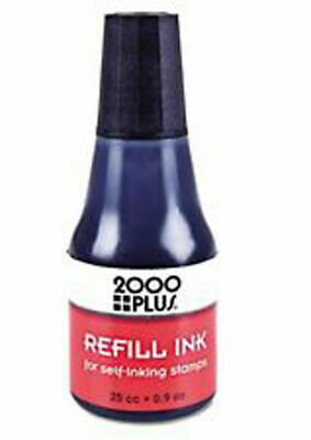 Cosco Self-Inking water based Stamp Ink Refill 25 cc 0.9 oz. (BLACK) BLACK Ink