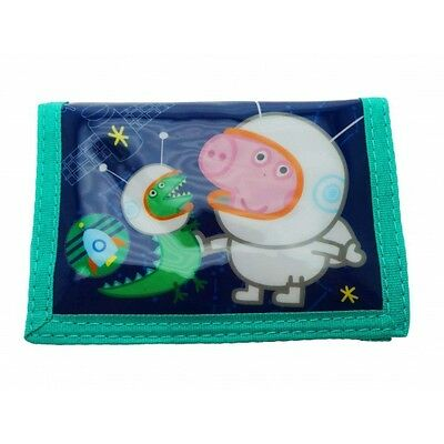 Peppa George & Dino 'Astronauts' Purse Coin Wallet Brand New Gift