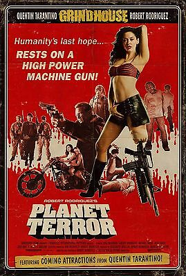 GRINDHOUSE Fabric Movie Poster Planet Terror Death Proof Tarantino