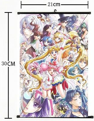 Hot Anime Sailor Moon Crystal Wall Poster Scroll Home Decor Cosplay 281