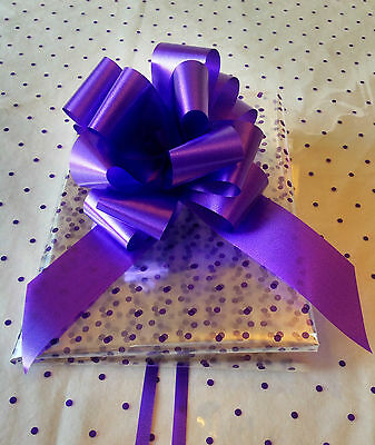 2 Mtrs of Polka Dot Cellophane Sheet Wrap & 50mm Pull Bow - Hampers, Grift Wrap