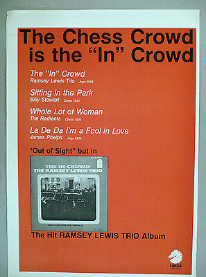 """Ramsey Lewis Trio PRINT AD - 1965 ~~ """"The In Crowd"""""""