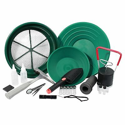 22pc ASR Outdoor Ultimate Gold Prospecting Kit for Beginners and Kids